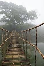 Rickety foot bridge