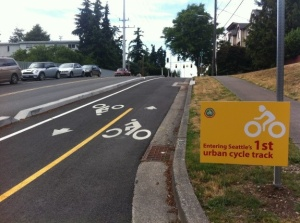 Linden Bike Lane in Seattle