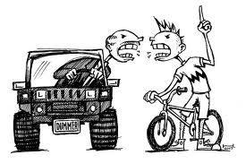Driver Cyclist Hosing